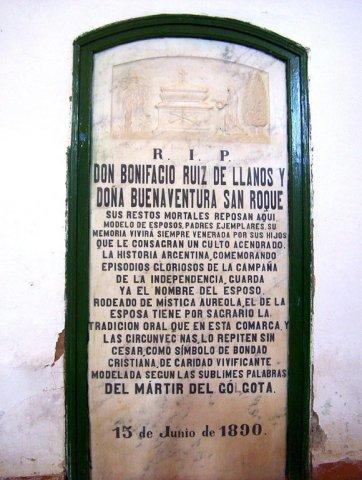 Lápida a Don Bonifacio
